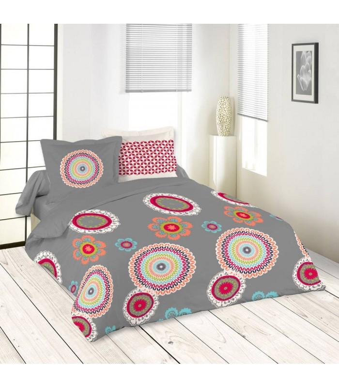 housse de couette 220 x 240 cm 2 taies colima decome store. Black Bedroom Furniture Sets. Home Design Ideas