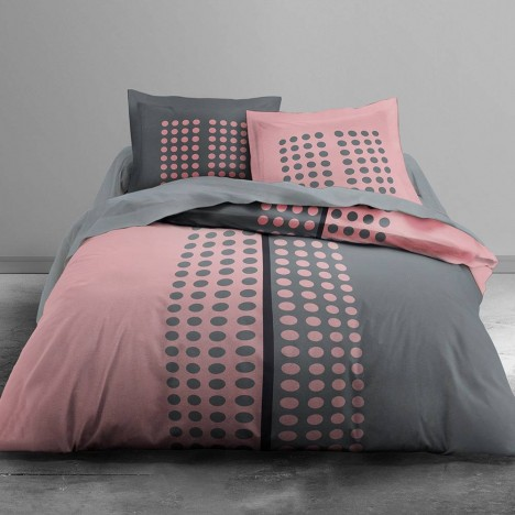 housse de couette 220 x 240 cm 2 taies pink vision decome store. Black Bedroom Furniture Sets. Home Design Ideas