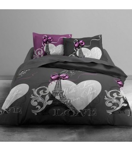 Housse de couette 260 x 240 cm + 2 taies From Paris