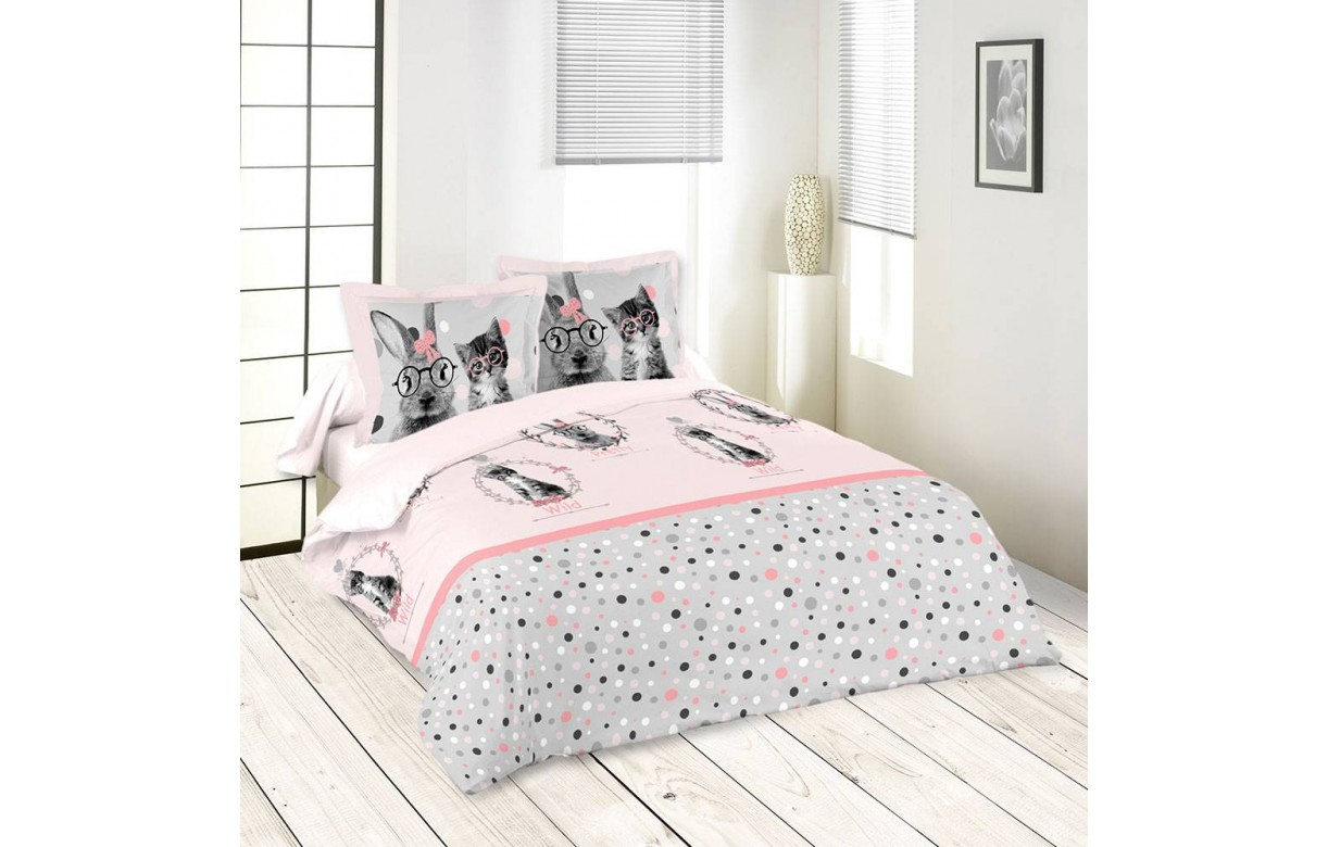 Housse de couette 220 x 240 cm 2 taies loovy decome store for Housse couette 220 240