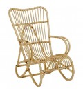 Fauteuil en rotin naturel vintage Marly
