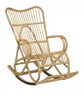 Fauteuil rocking chair en rotin naturel Marly