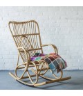 Fauteuil rocking chair en rotin naturel Marly -