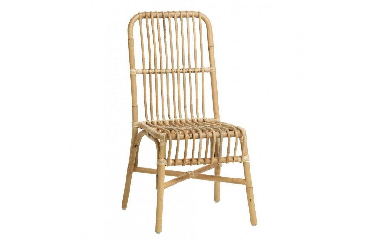 Chaise en rotin naturel empilable lot de 2 for Chaise blanche en rotin