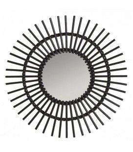 miroir en rotin naturel decome store. Black Bedroom Furniture Sets. Home Design Ideas