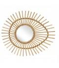 Miroir ovale en rotin naturel oeil Ellipse L.74cm