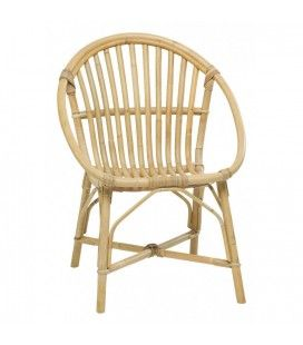 Fauteuil chaise empilable en rotin naturel Bruno