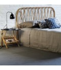 Tête de lit Volutes en rotin naturel -
