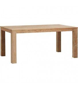 Table en bois massif de teck brossé 170cm