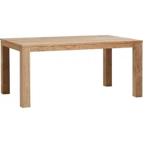 Table en bois massif de teck brossé 170cm -