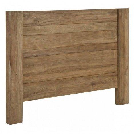 Tête de lit en bois massif teck brossé 160cm -