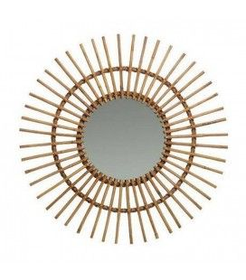 Miroir En Rotin Naturel Decome Store