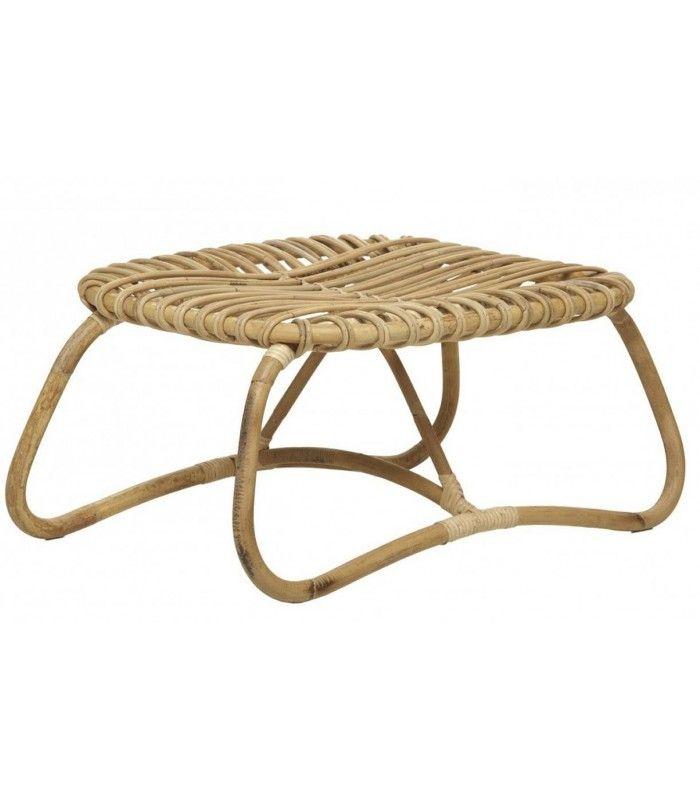pouf table basse basse en rotin naturel. Black Bedroom Furniture Sets. Home Design Ideas