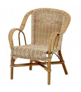 Petit fauteuil en rotin pour enfant Swan