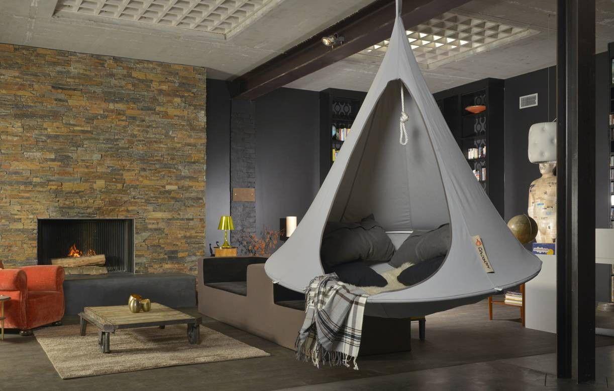 double cacoon nid suspendu 2 personnes 11 coloris. Black Bedroom Furniture Sets. Home Design Ideas