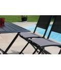 Ensemble table et 4 chaises de jardin pliantes gris foncé Bayonne -