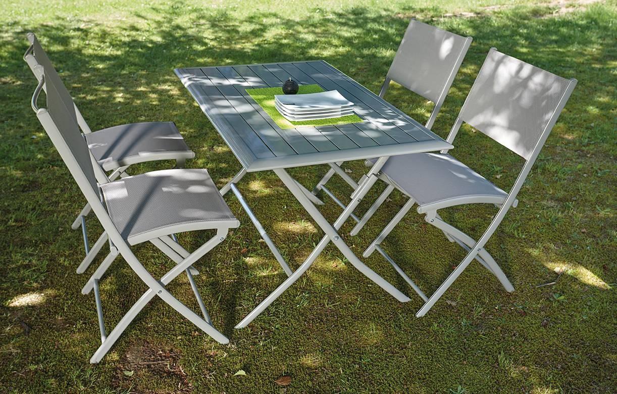 Et Taupe Chaises Hossy 4 Pliantes Table De Jardin v7yf6gYb