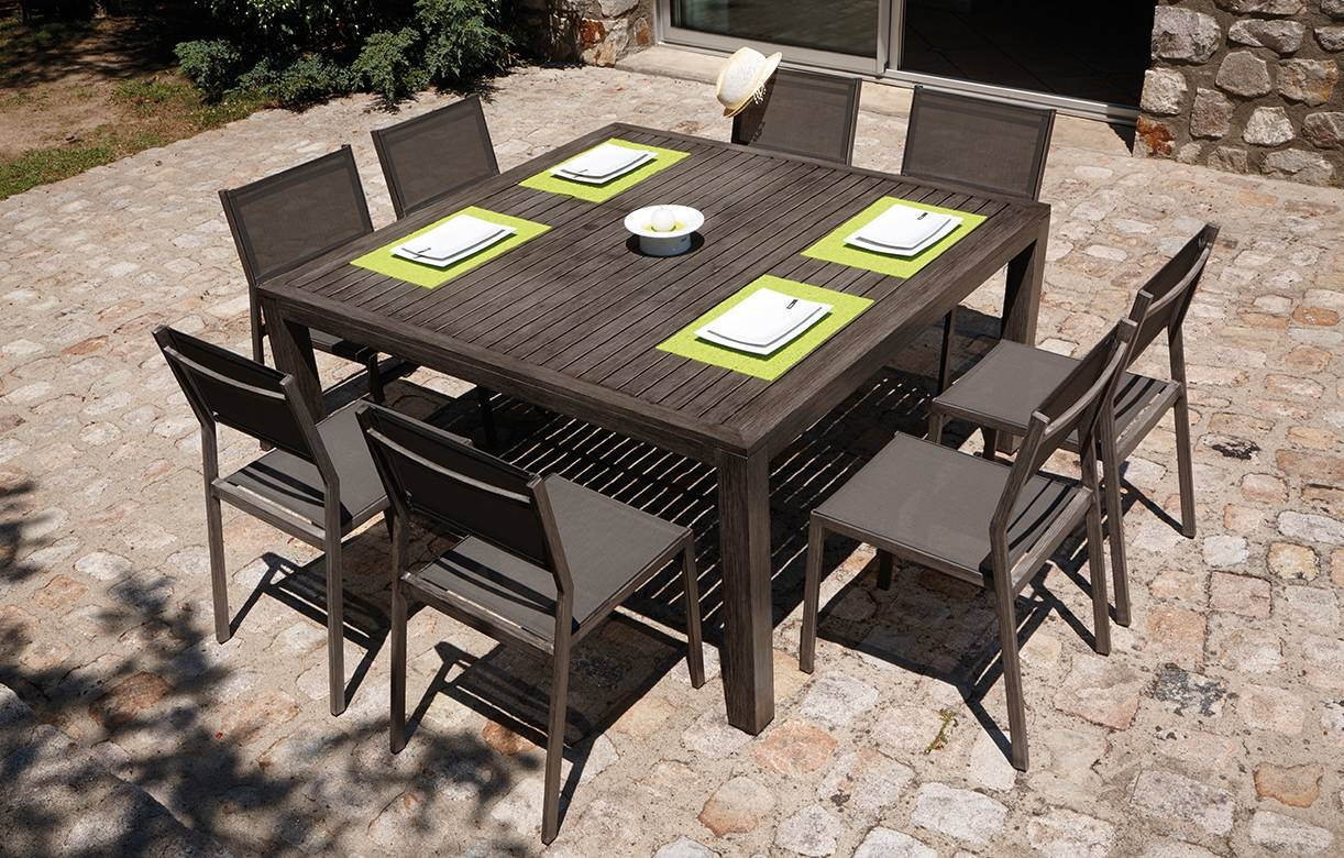 Beautiful table de jardin a rallonge en aluminium photos - Table jardin rallonge aluminium ...