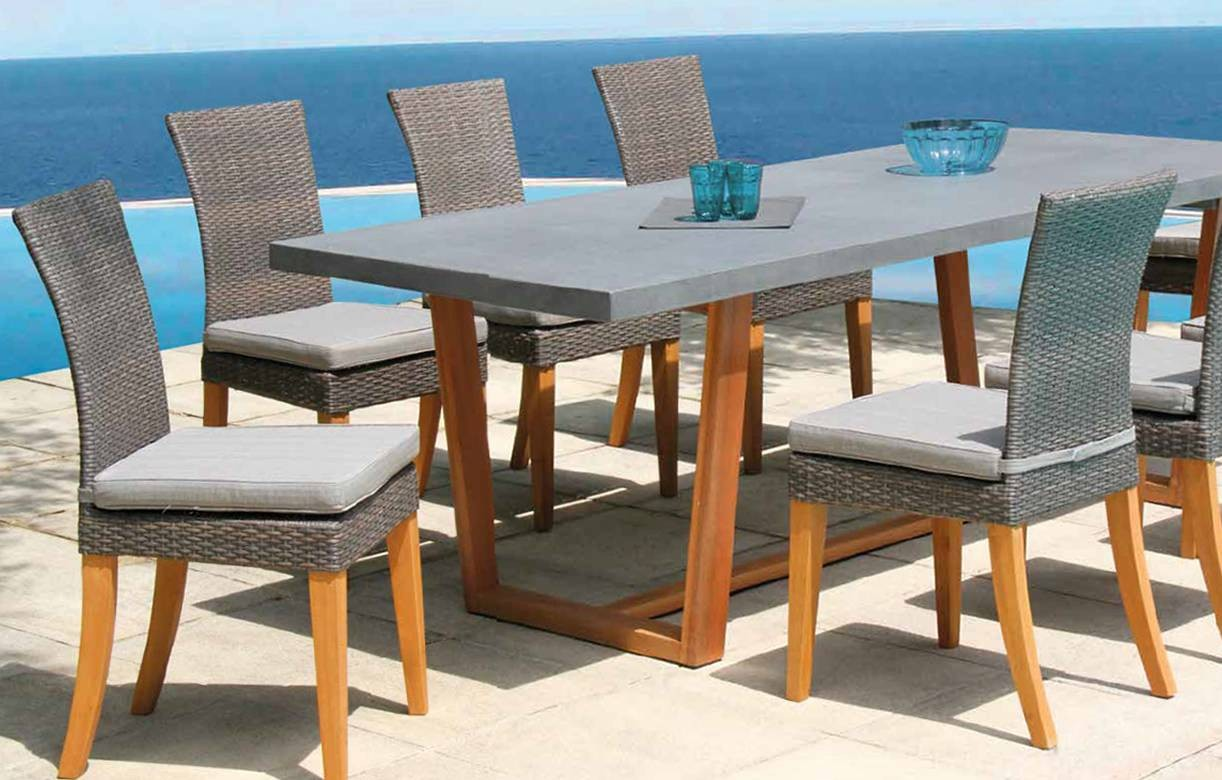 Best table de jardin bois et verre ideas awesome for Table et chaise integree