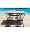 Table de jardin mosaique rectangulaire + 4 ou 6 chaises Antalya -