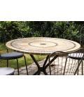 Table de jardin mosaique ronde + 4 chaises Bodrum -