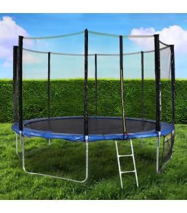 Trampoline de jardin XL 366cm noir -