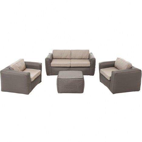 Salon de jardin gonflable taupe sable Nomad Lounge SitinPool -