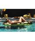 Matelas de piscine coquillage gonflable doré Gold