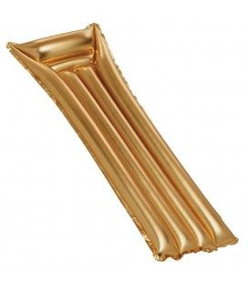 Fauteuil de piscine avec matelas pliable doré Gold
