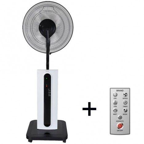 Ventilateur brumisateur 3 vitesses + télécommande 125cm -
