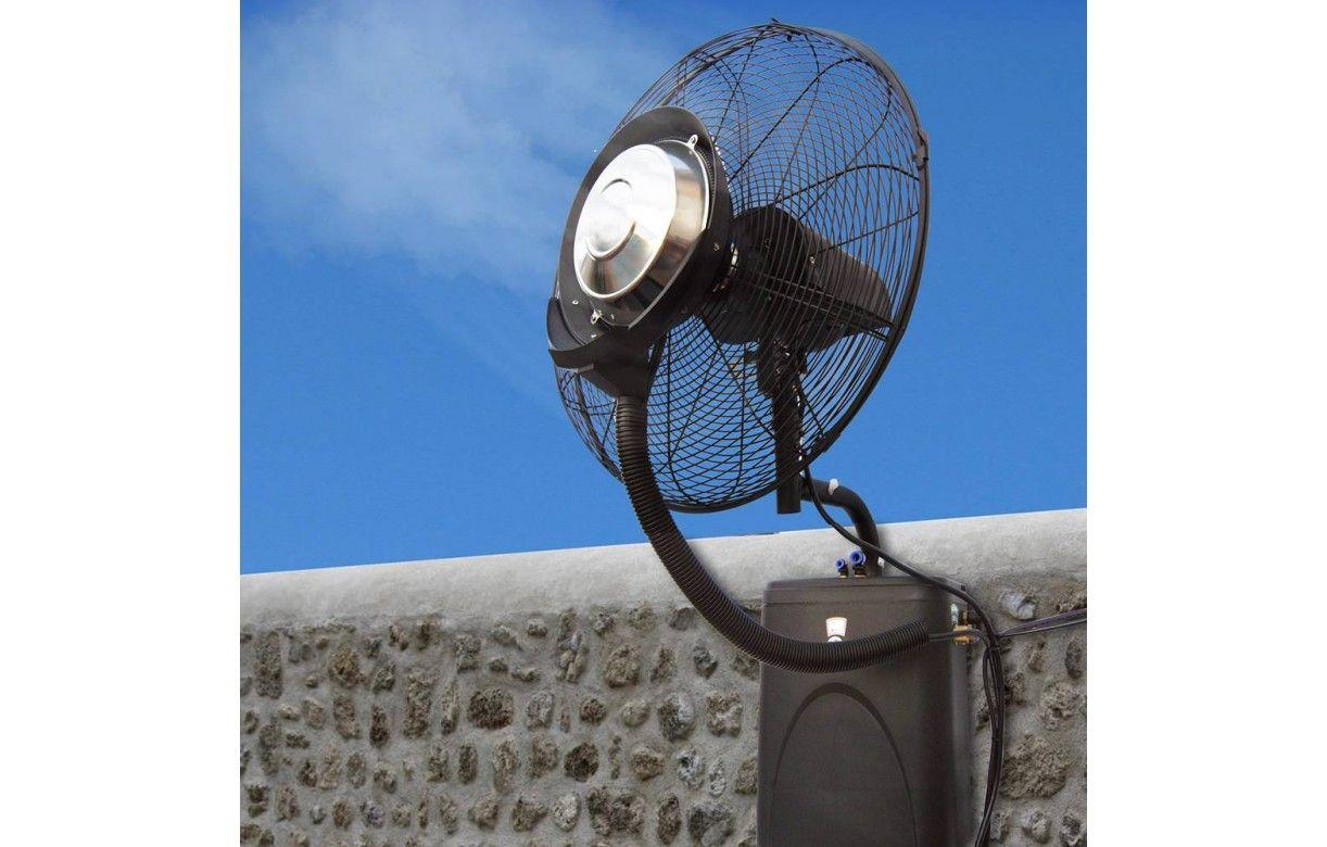 Ventilateur brumisateur mural haute performance o 39 fresh for Ventilateur exterieur
