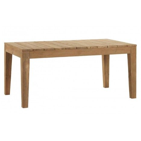 Table d'extérieur en bois massif de teck brossé 8 couverts -
