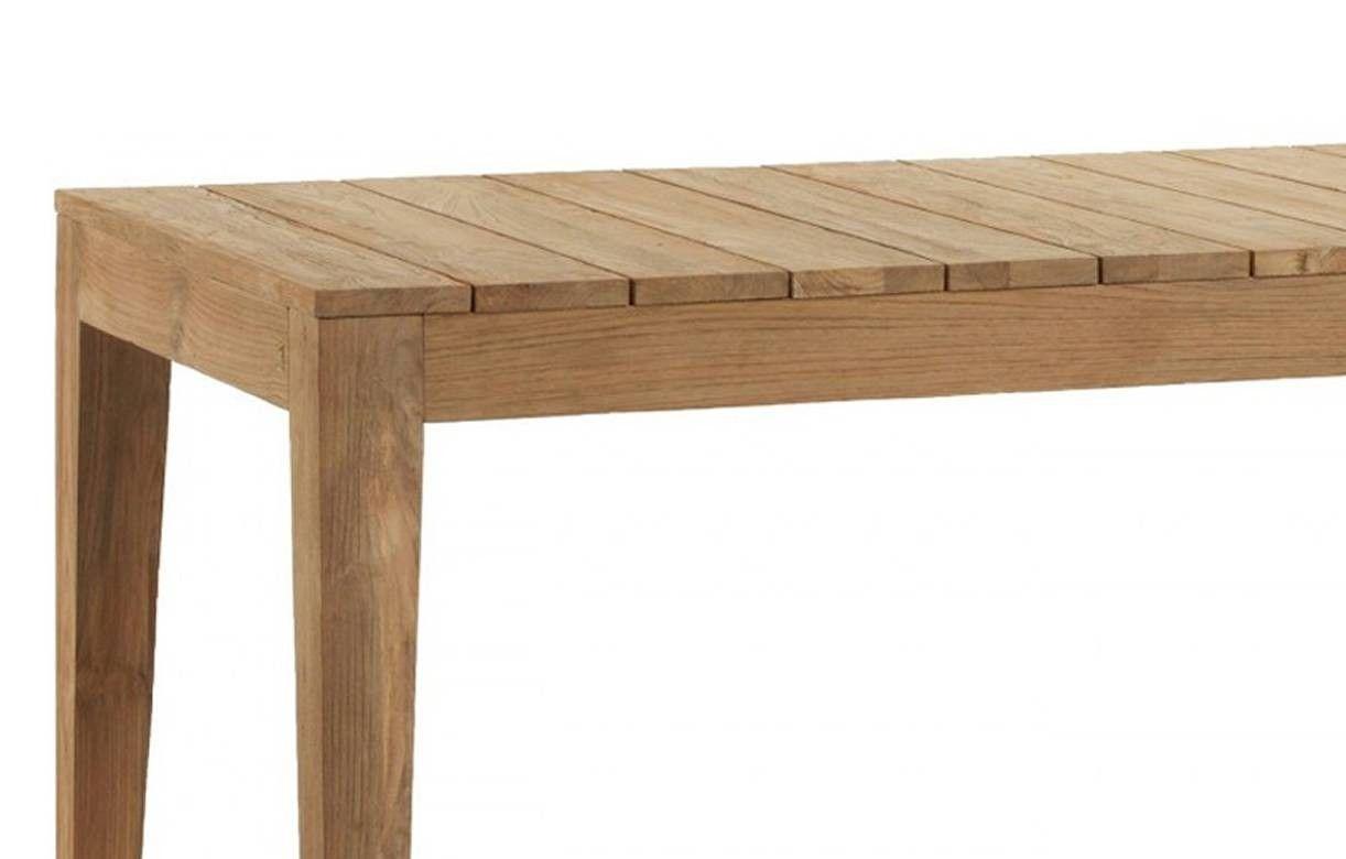 ... Table Du0027extérieur En Bois Massif De Teck Brossé 8 Couverts