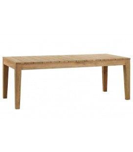 Table de jardin en bois massif de teck brossé 10 couverts