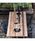 Table de jardin en bois massif de teck brossé -