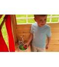 Cabane maison de jardin pour enfants en bois clair -