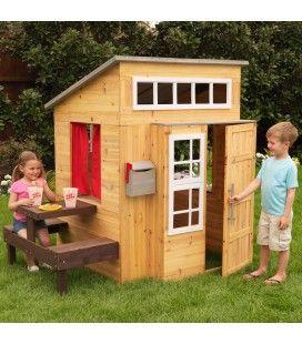 Cabane maison de jardin pour enfants en bois clair