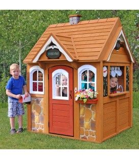 Cabane d'extérieur pour enfants en bois Kidkraft