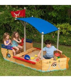Bac à sable de jardin bateau de pirates Kidkraft -