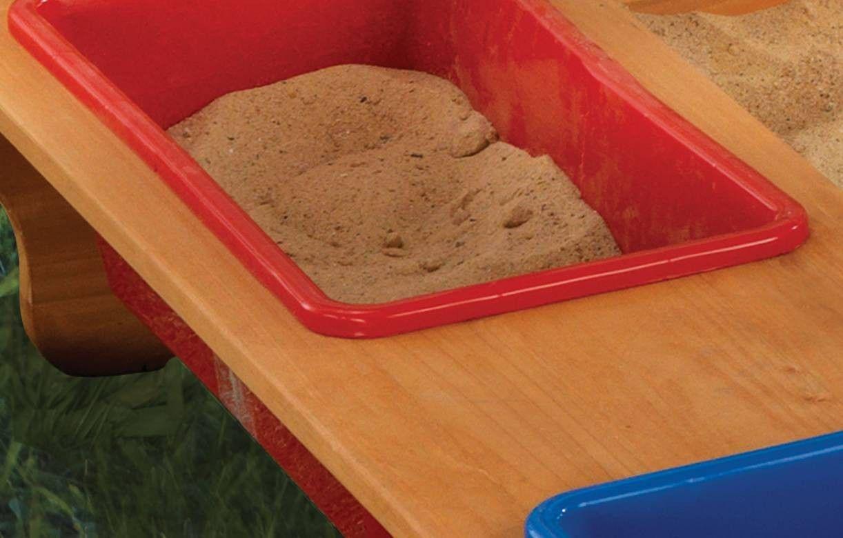bac sable enfant bois clair avec auvent ray kidkraft. Black Bedroom Furniture Sets. Home Design Ideas