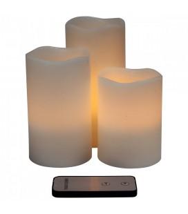 Coffret de 3 bougies à LED avec télécommande