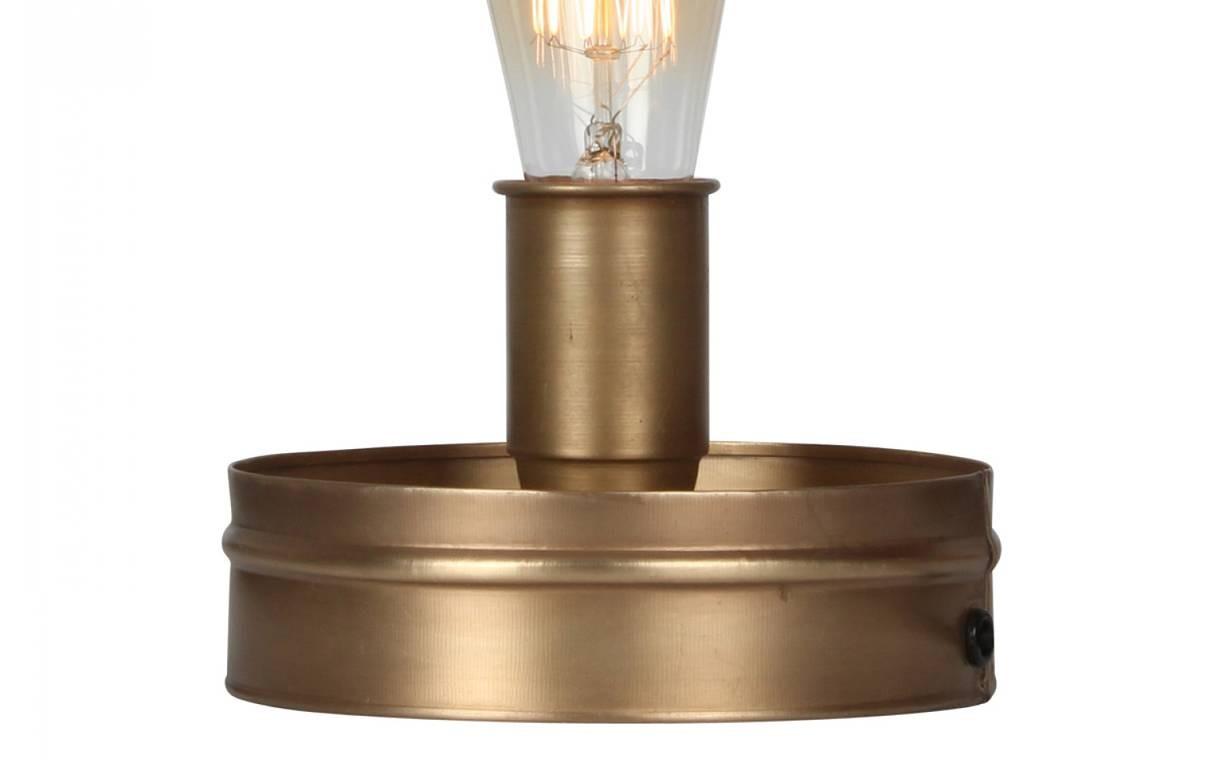 Lampe Poser Vintage Bronze Cage En M Tal