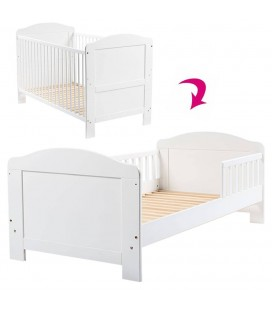 Lit bébé évolutif transformable en lit junior blanc