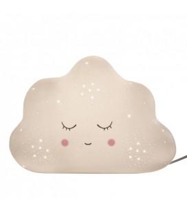 Lampe de chevet enfant en porcelaine blanche Nuage L.25cm