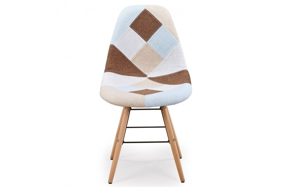 chaise design scandinave patchwork. Black Bedroom Furniture Sets. Home Design Ideas