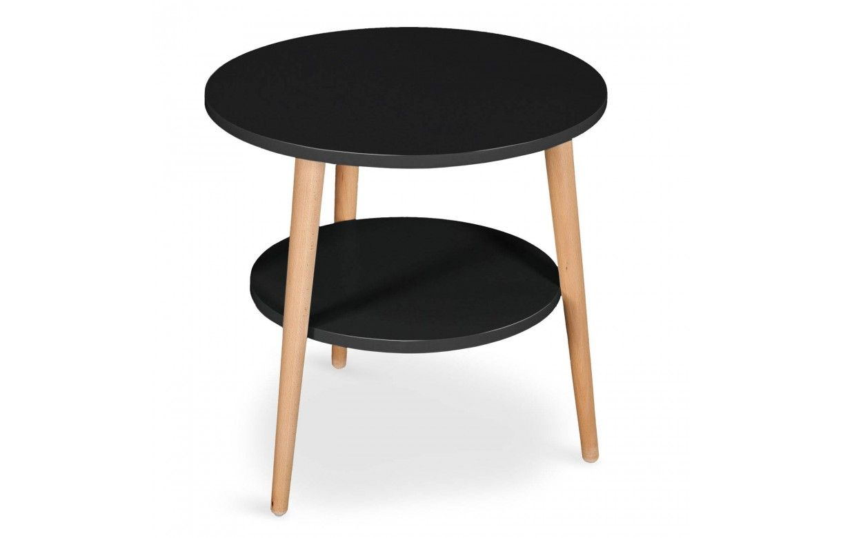 table basse scandinave ronde double plateau. Black Bedroom Furniture Sets. Home Design Ideas