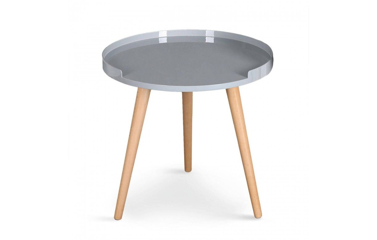table basse ronde avec rebords scandinave. Black Bedroom Furniture Sets. Home Design Ideas