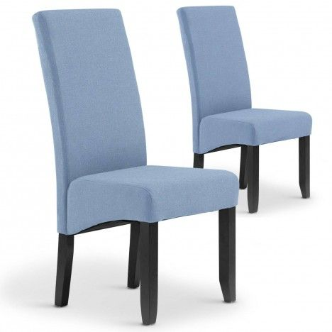 Lot de 2 chaises en tissu haut dossier -