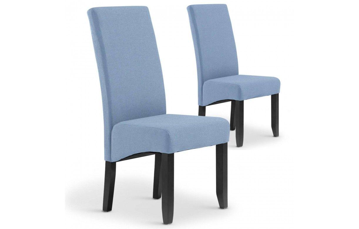 Chaise en tissu haut dossier lot de 2 for Chaise haut dossier salle a manger
