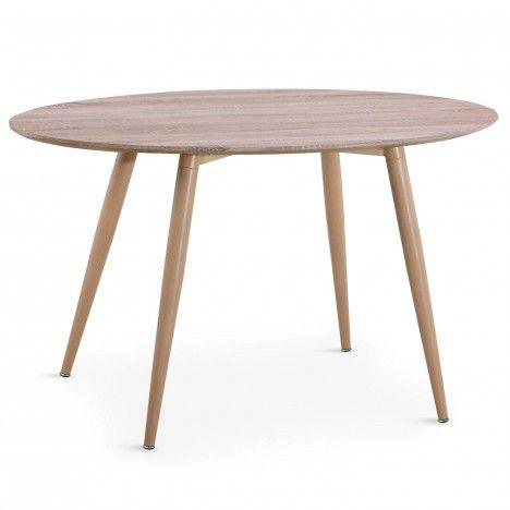 Table ovale bois clair style scandinave Hilda -